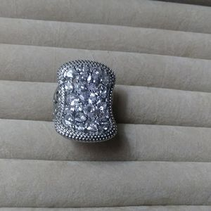 Crystal cocktail ring.